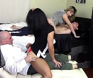 STEP MOM GRINDS SONS DICK WHILE STEP DAUGHTER GRINDS STEP DADDYS DICK 10 min HD