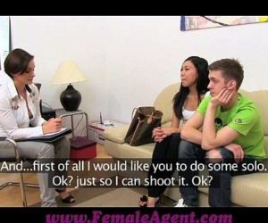 FemaleAgent Hot Asian pleasures MILF then fucks boyfriend - 11 min