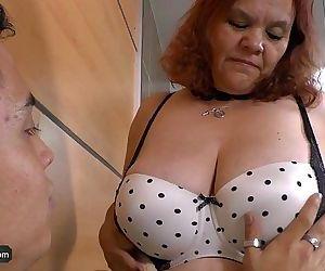 AGEDLOVE BBW granny Gloria showing her cuntHD