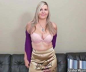 Blonde milf Velvet Skye drips her pussy juice on the couchHD