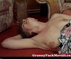 Hard pounded horny granny slut - 6 min
