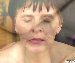 Grandma loves young cock and facial