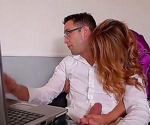 Horny Wife Ani Blackfox Fucked hard by Remote work Husband 21 min HD+