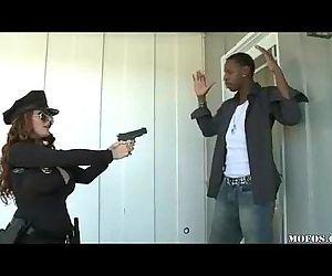 Police Women Likes It Black! - 3 min