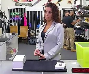 Latina Victoria Banxxx ends up fucked hard in the pawnshop 5 min
