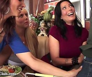 Three Stacked MILFs Desperate For Dick!HD