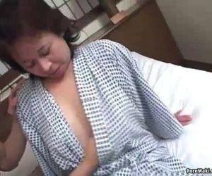 Asian granny enjoys threesome fucking - 7 min