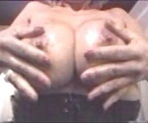 Pat Wynn Washing and Rubing Her Huge Tits