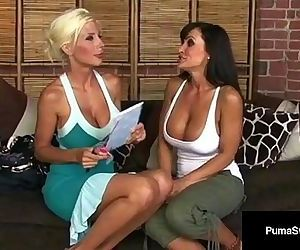 Beautiful Lesbian Duo Puma Swede & Lisa Ann Lick Some Pussy!HD+
