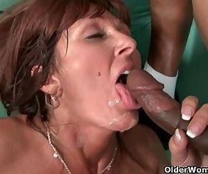 Milfs Desi Foxx and Dorothy unload a hard cock on their faceHD