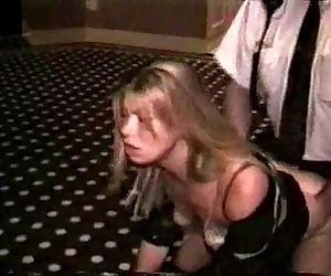 HOOKER DOGGYSTYLED IN A HOTEL HALLWAY - 6 min