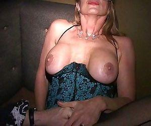 Masks make MILF Martha and her friends into cum crazy cougars - 8 min