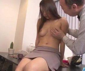 Asian babe Satomi Suzuki is ready to fuck her boss - 12 min