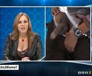 Julia Ann News Caster fuck by Big Black Dick