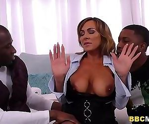 Busty MILF Aubrey Black Squirts On A Big Black Cock 8 min HD