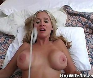 Hot Wife Rio cumshot complilation - 5 min