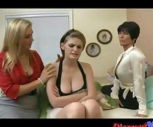 Three hot lesbian MILFs lick each others pussy p1