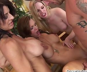3 Horny MILF Babes Get Their Man!