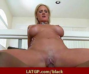 Interracial hard sex Horny MILF beauty gets hard big black cock 37