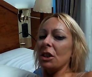 Spanish milf fucked in the ass by rubber cock