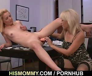 He finds his GF and mom fucking each other