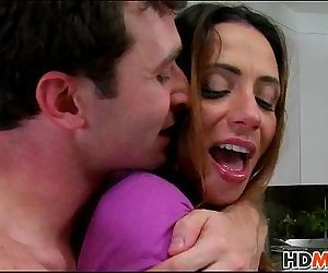 James Dean fucks mom Ariella Ferrera and Gf Callie Cyprus - 7 min HD