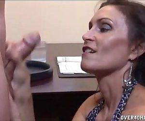 Brunette Milf Strokes A Boner