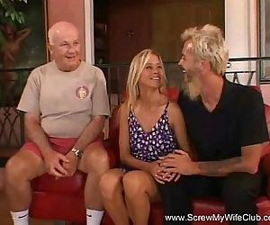 Happy Blonde Swinger MILF