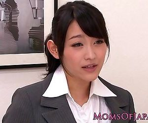 Innocent asian babe licking classy mature box - 8 min HD