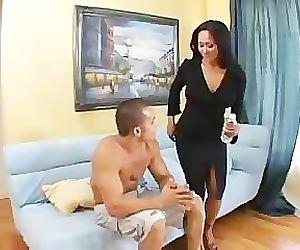 Asian milf fucking her sons best friend