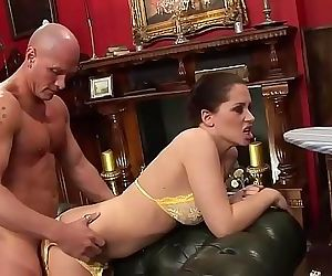 Aristocratic couple fucks while the butler watches 22 min 720p