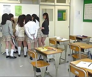 Japanese school from hell with extreme facesitting Subtitled 5 min
