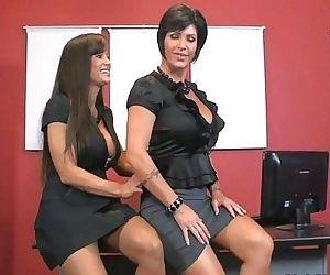 Lisa Ann & Shay Fox suck black cock