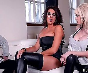 Milf Rock band Practice Turns Threesome with Ava Koxxx & Sandra Star 27 min HD+