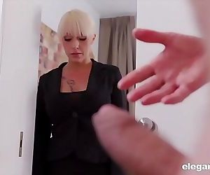 Gorgeous MILF Rides a HUGE Cock During Interview 7 min 720p