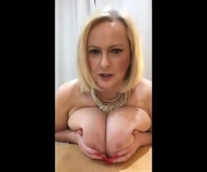 Annabels jerk off instruction using my BIG tits