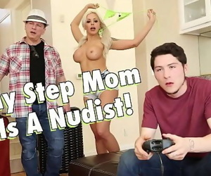 FILTHY FAMILYMy Busty Blonde Step Mom, Nina Elle, Is A Nudist 3 min 720p