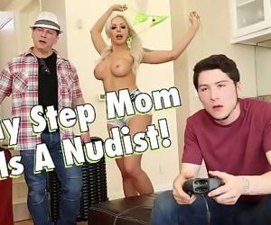 FILTHY FAMILYMy Busty Blonde Step Mom, Nina Elle, Is A Nudist 3 min 720p
