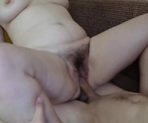 Hot Mom. Fucks the stepson hard. wet Pussy