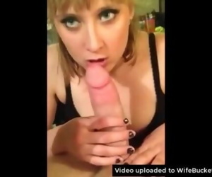 Trophy wife earns her keep by eating his cock