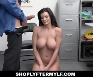 ShopLyfterMYLF - Big Tits Milf Caught Stealing Lets Security Creampie Her
