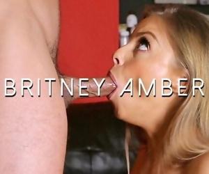 Britney Amber receives throbbing oral creampie - cum in mouth