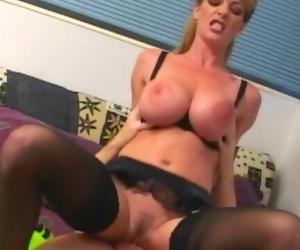 Skinny Huge Titty MILF Sara Ashley Fucked in every Hole -full Scene