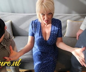 British Mom didnt Expect to get Double Penetrated by 2 Big Dicks