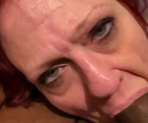 Throat Fucking my Coworker Granny