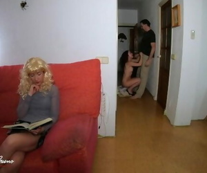 My Wife Catches me Fucking my Lover while she Reads next Room