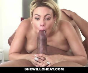 She will Cheat - Blonde Latina Cuban Wife Loves Fat Black Cock