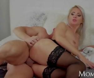 MOM Triple Cumshot for Natural Stunning Blonde MILF Kathy Anderson