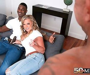 Cuckold interracial anal sex fantasy for mature wife -..