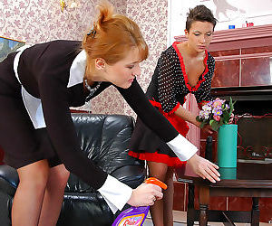 Old and young maids prefer playing slits and clits to..